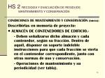 hs 2 recogida y evacuaci n de residuos mantenimiento y conservaci n