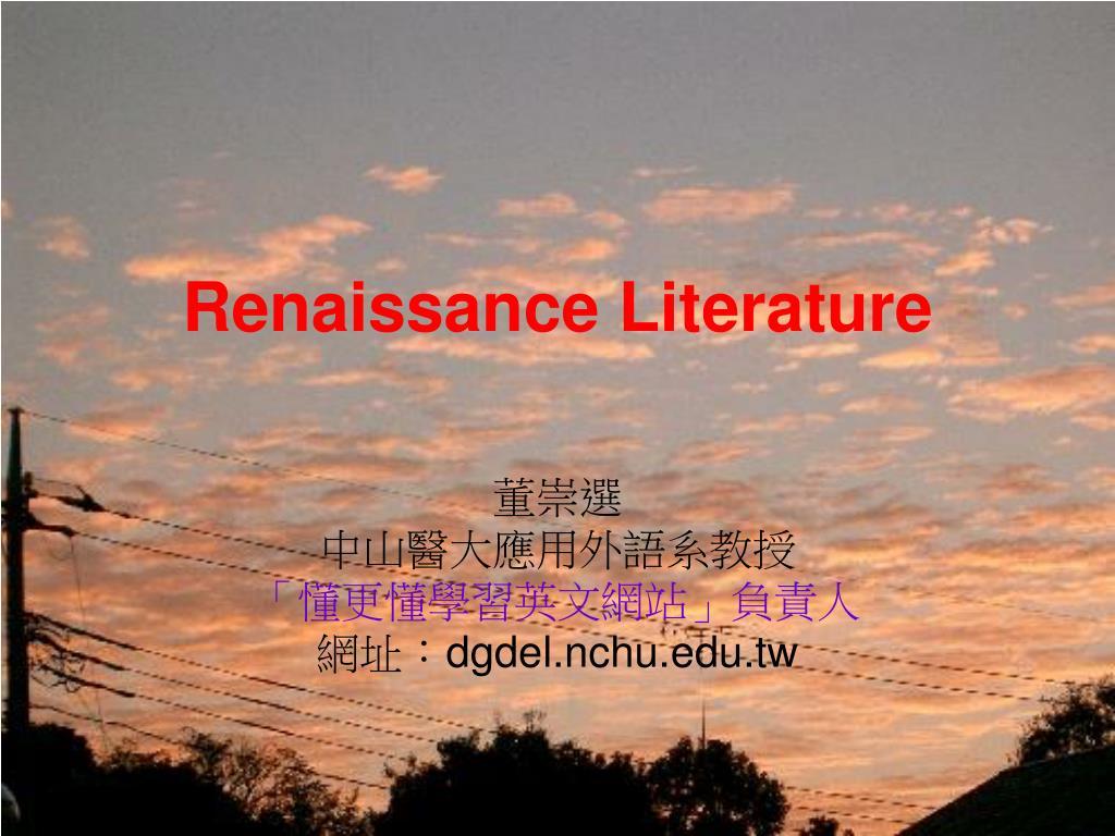 renaissance literature l.