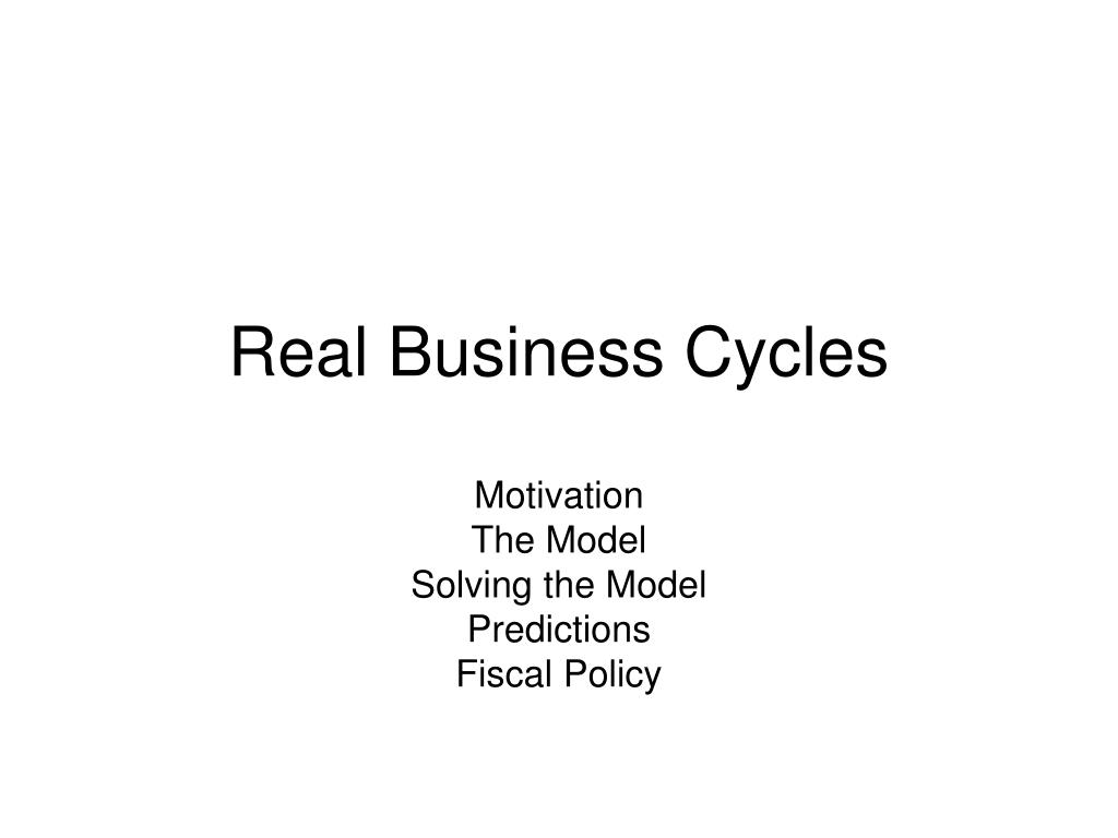 real business cycles l.