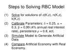 steps to solving rbc model