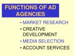 functions of ad agencies