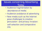 issues concerning advertising today