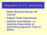 regulators of u s advertising