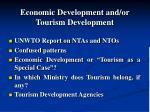economic development and or tourism development