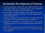 sustainable development of tourism