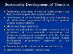 sustainable development of tourism8