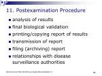 11 postexamination procedure
