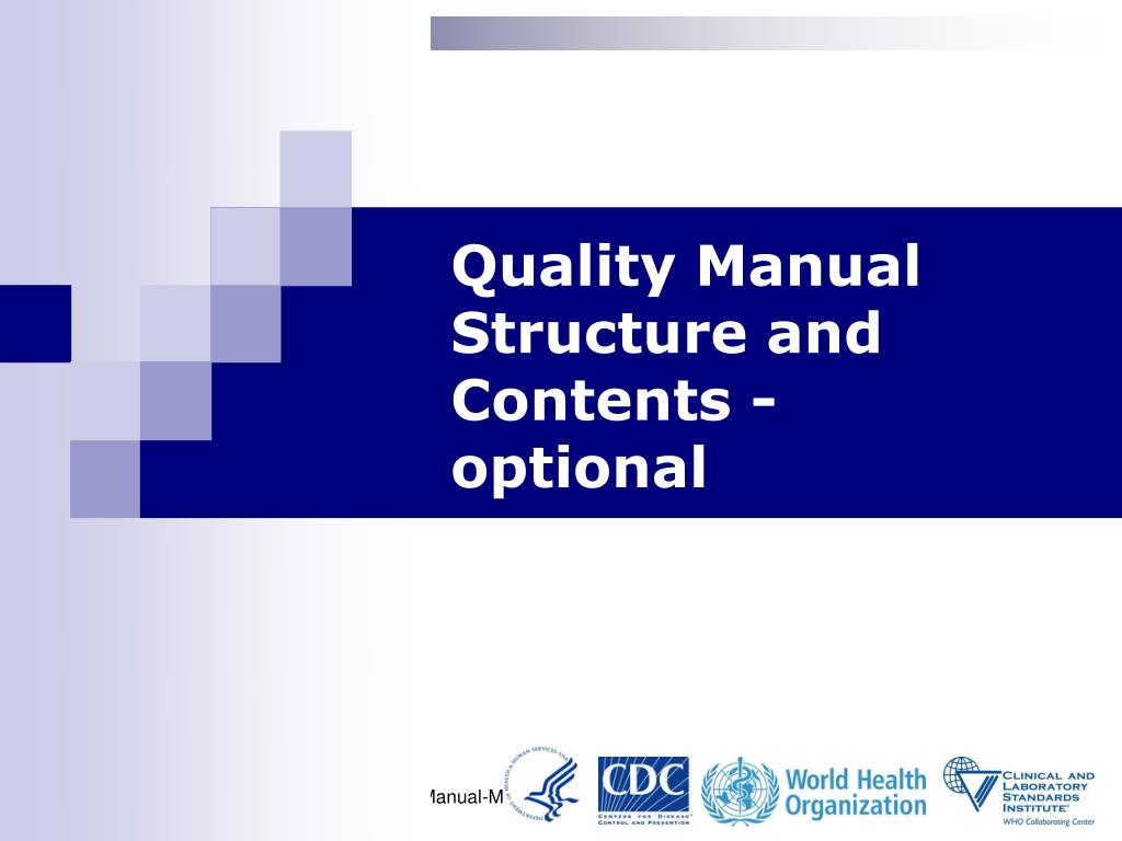 quality manual structure and contents l.