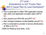 2 nd limit amendment to g f frozen plan will it cause plan to lose exemption