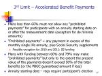 3 rd limit accelerated benefit payments