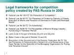 legal frameworks for competition policy created by fas russia in 2006