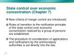 state control over economic concentration chapter 7