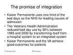 the promise of integration
