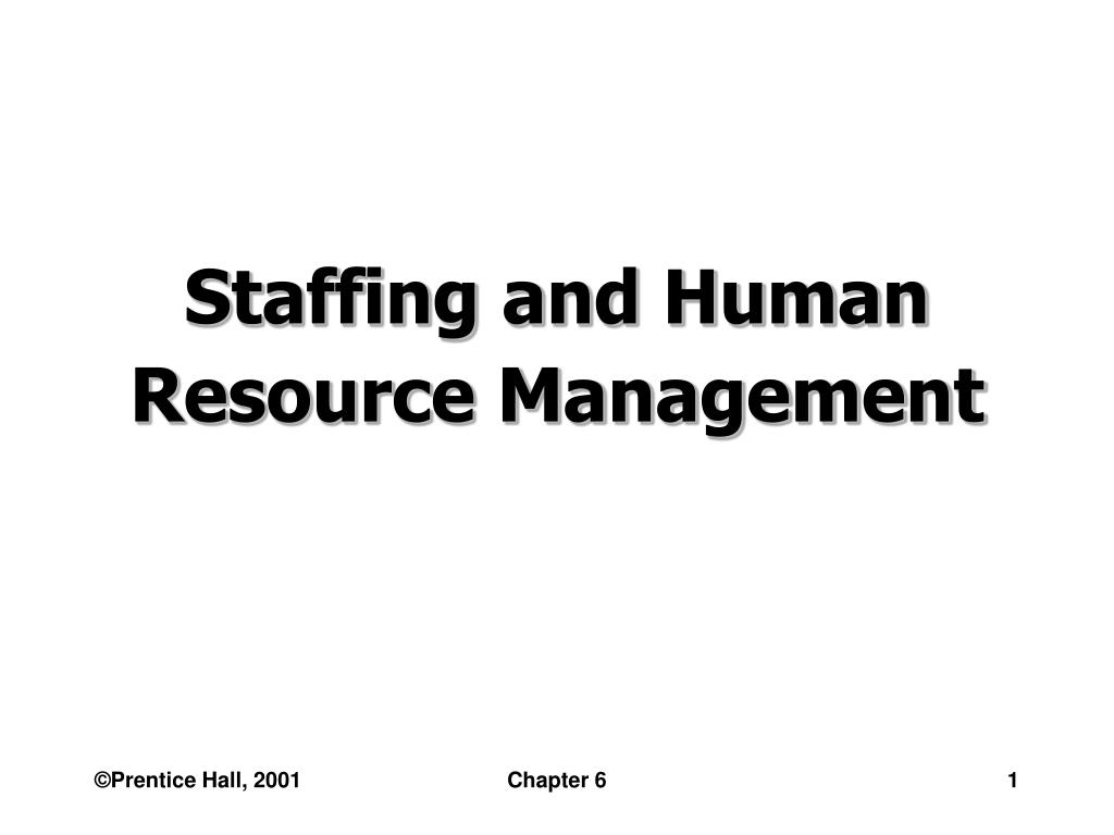 staffing and human resource management l.