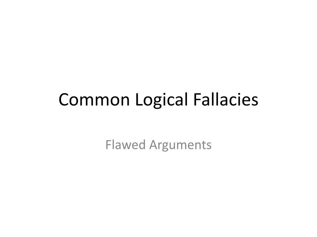 common logical fallacies l.