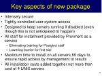 key aspects of new package