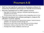 provment a b