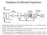 guidance by breath expulsion