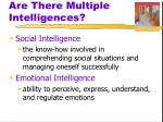 are there multiple intelligences9