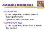 assessing intelligence