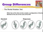 group differences29