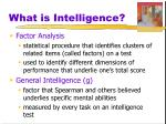 what is intelligence7