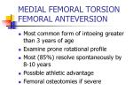medial femoral torsion femoral anteversion
