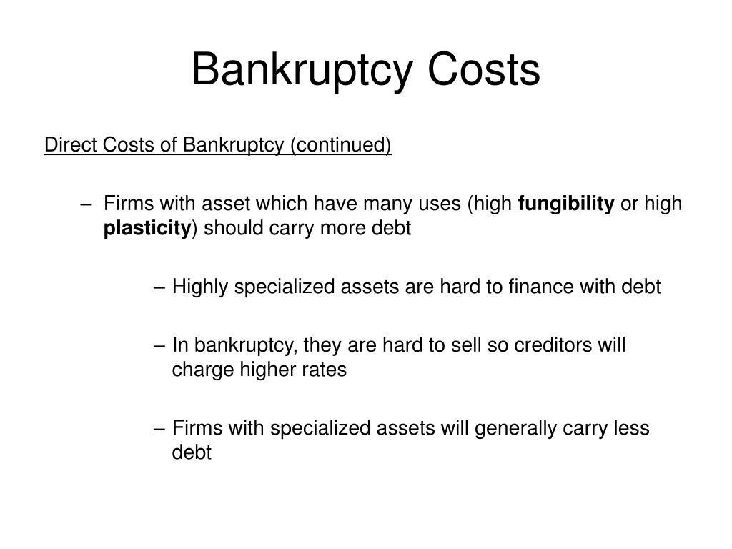 Bankruptcy Costs