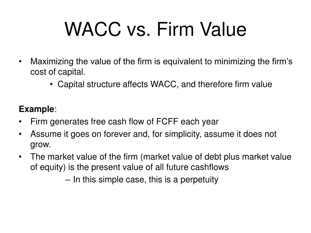 WACC vs. Firm Value