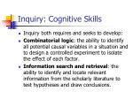 inquiry cognitive skills