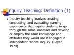 inquiry teaching definition 1