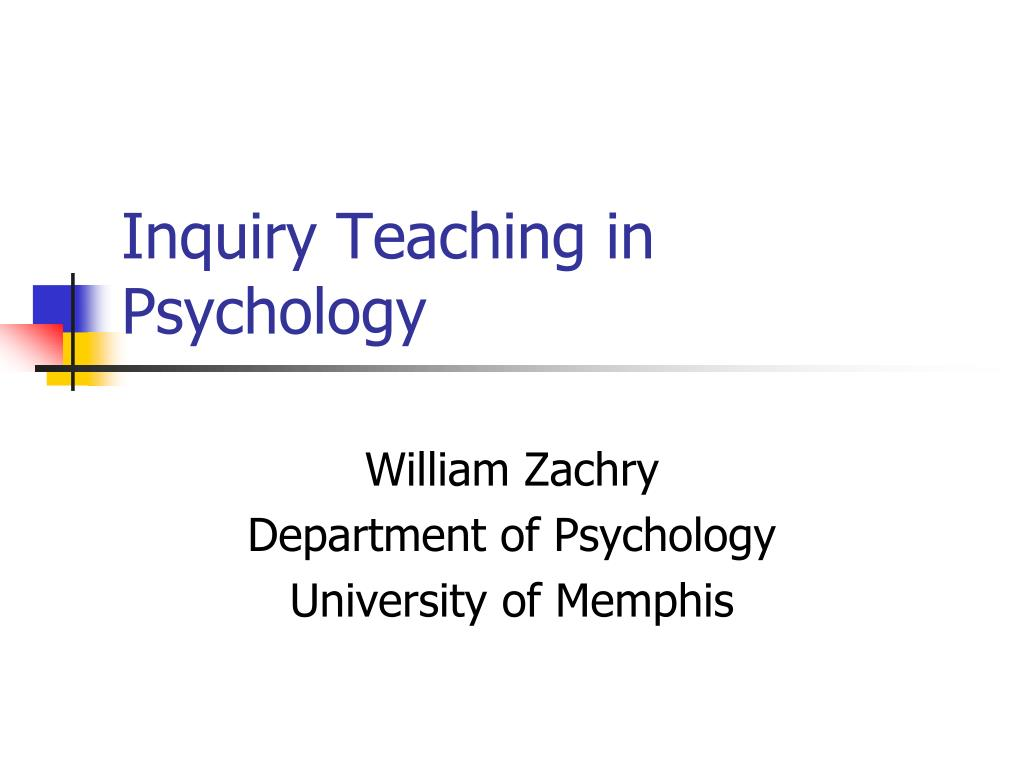 inquiry teaching in psychology l.