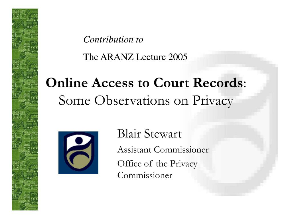 online access to court records some observations on privacy l.