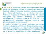implementacja dyrektywy cafe17