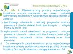 implementacja dyrektywy cafe19