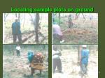 locating sample plots on ground