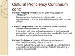 cultural proficiency continuum cont