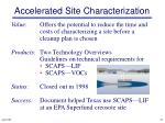 accelerated site characterization