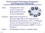 environmental technology acceptance and reciprocity partnership