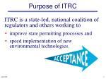 purpose of itrc