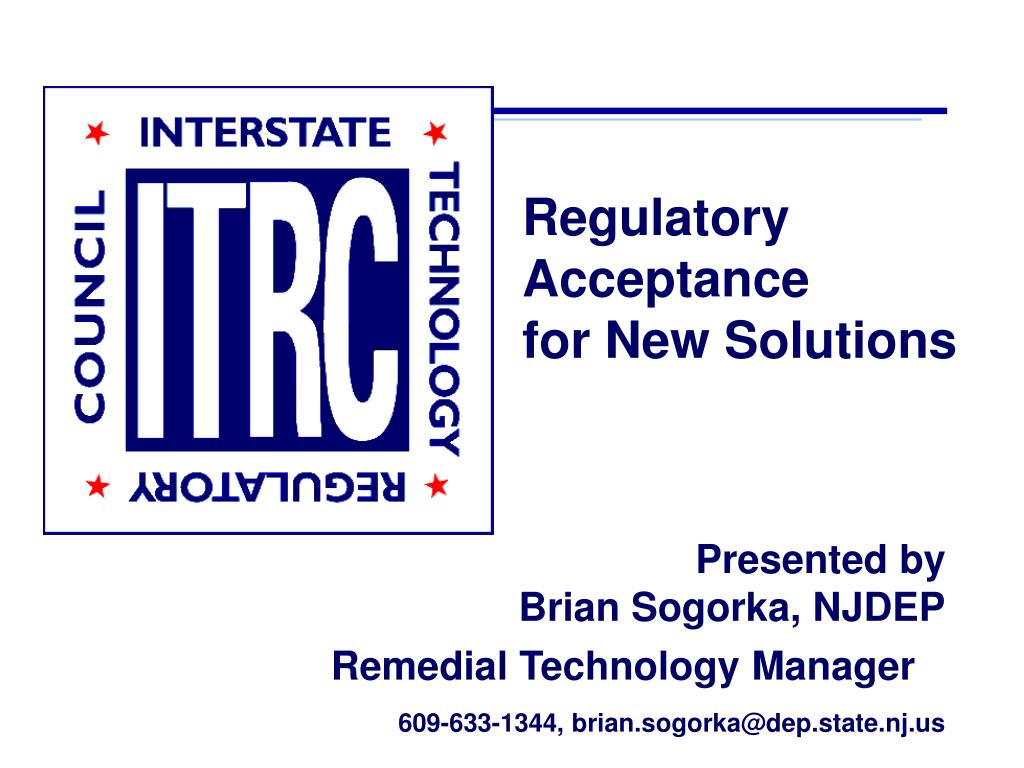 regulatory acceptance for new solutions l.