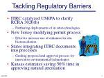 tackling regulatory barriers