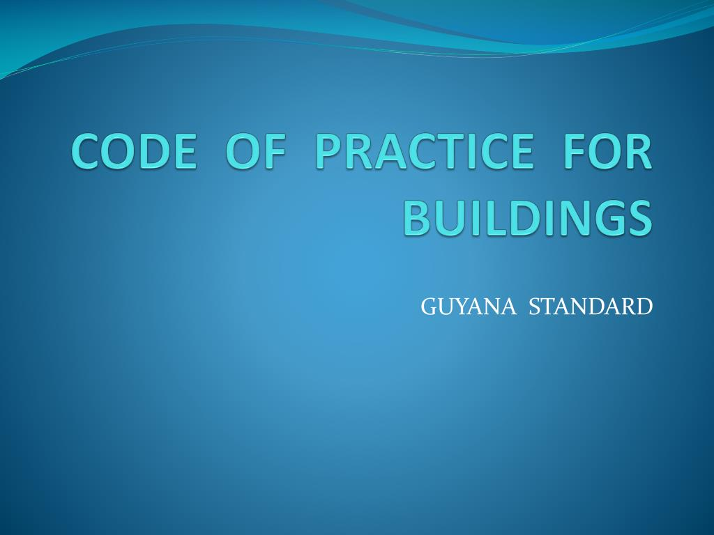 code of practice for buildings l.