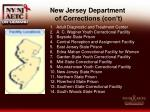 new jersey department of corrections con t