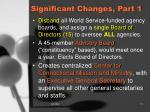 significant changes part 1