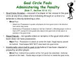 goal circle fouls administering the penalty rule 7 section 10 11