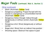major fouls continued rule 6 section 133