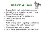 uniform tools