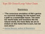 type iii closed loop value chain20