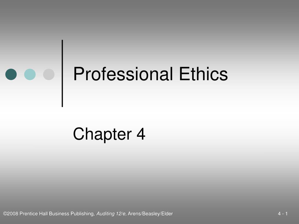 professional ethics l.